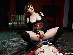 VRCosplayX Yen And Triss Enjoy Lesbian Session Witcher XXX