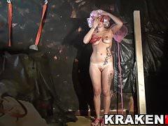 Hot blonde MILF spanked in a BDSM casting