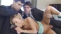 Teen gets fucked by two men