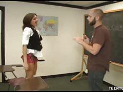 POV Horny And Beautiful Teen Corners Her Teacher