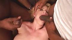 Dirty Slut Wife Rough Fucked By Big Black Dicks