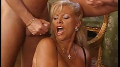 Ira Vaillant DP & fisted by cum catching GILF Babette Blue