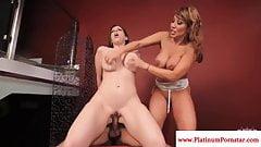 Sara Jay and Ava Devine enjoy a threeway