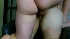BIG cum in her pussy 4 times deep and hard