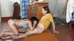 Latin nasty girl ass licking and blowjob
