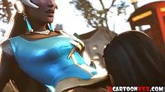 3D game heroes enjoy hard sex session compilation