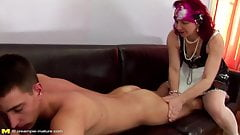 Mature mom gets anal sex and pissing from son