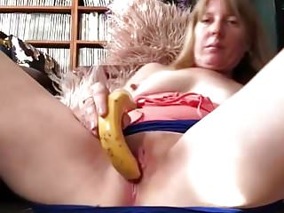 playing with a banana