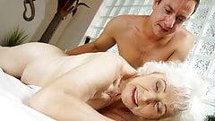 Old mom Norma enjoys sex after massage