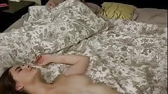 daughter fucks not dad with Mom on the bed WF