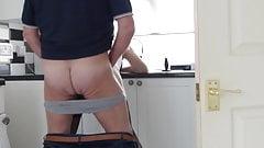 Fucked over kitchen sink