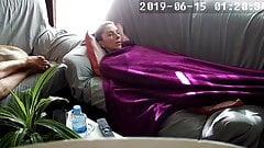 Masturbating under a blanket next to her friend