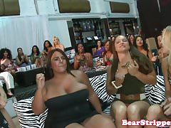 Wild cfnm babes cocksucking stripper