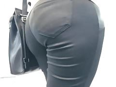 Big ass in black pants