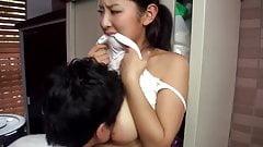 Hot japanese married neighbour teasing me