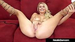 Blonde Beauty Natalia Starr Fingers Her Cunt In Hot Heels!