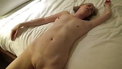 Two strangers fuck and cum on wife bareback