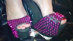 Lady L crush apples extreme high heels.