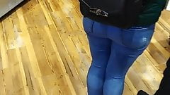 UK candid tight blue jeans (meat pie any1)