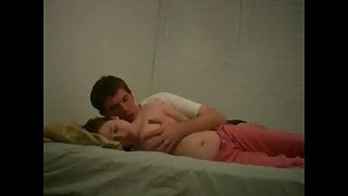 sexy French college couple having romantic passionate sex