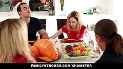 Step sister Sucks And Fucks NOT brother During  Dinn
