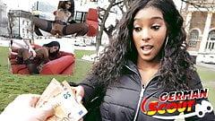 Explorador alemán - slim ebony teen rae pickup y follar por dinero en efectivo