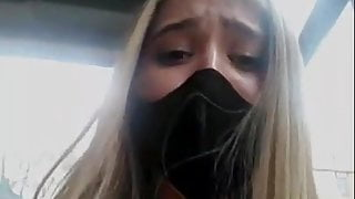Sara has fun on the Bus and public live sex with big squirting