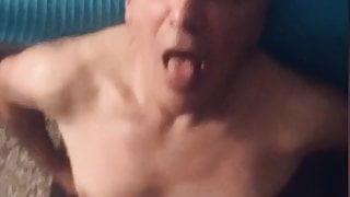 Grandpa sucking like a pro