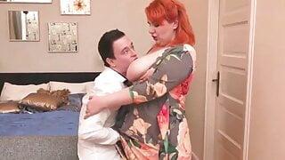 big cock stepmom, big mom fucks slim son – mature facial