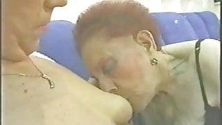 Two Latina Grannies Making Love