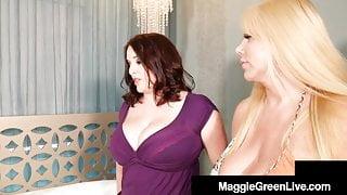 Mega Melons Maggie Green & Step Step Mom Karen Fisher Do Daughter