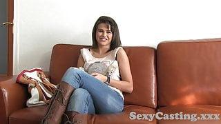 Castingxxx Super sexy brunette is an amazing fuck
