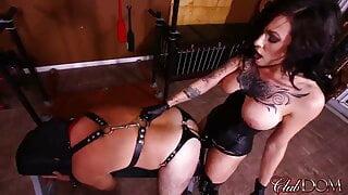 Cruel Mistress fucks her slave very hard