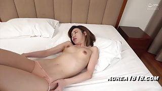 Korean massage slut gets fucked by Japanese dude