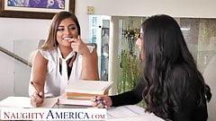 Naughty America - Ella Knox und Violet Myers ficken ihren Chef