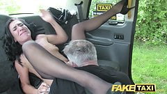 Fake Taxi Sex mad MILF loves to ride cock in London taxi