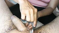 Shaving erection HJ & happy ending (rasurada IV)