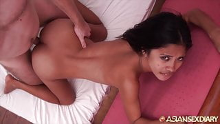 Asian Sex Diary - Sexy young Asian loves white cock
