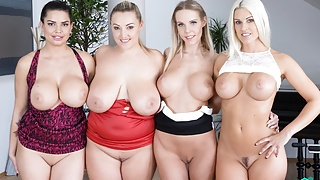 Fivesome with Huge Tits