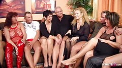 Real German Mature Swinger Party with 4 Couple Change Wife
