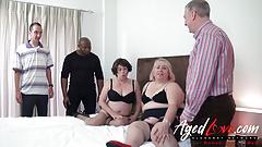 AgedLovE Three Guys versus Two Horny Ladies