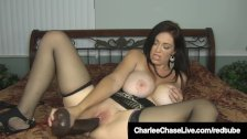 Hot Milf Charlee Chase Punishes Pussy With Big Black Dildo!