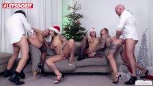 Christmas orgy w/ German hotties Mia Blow, Jolee Love & Wild Vicky Pt.2